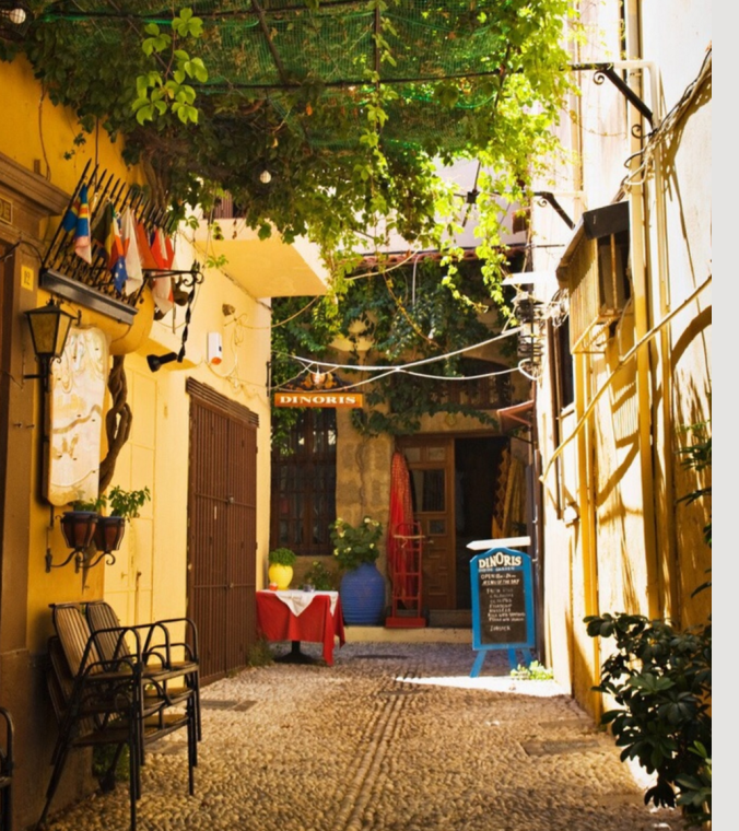 street view in Rhodes, near where the Colossus of Rhodes stood