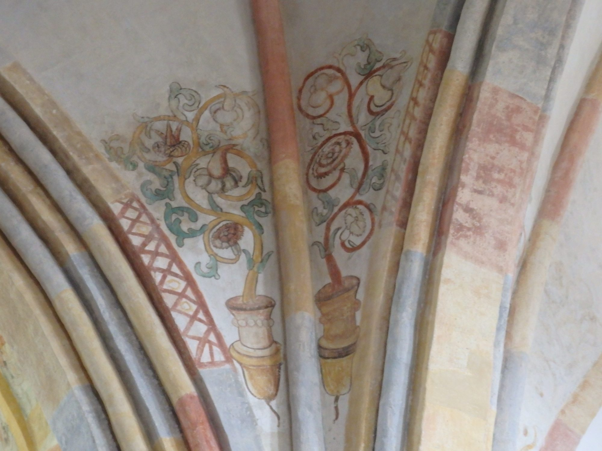 a remnant of a fresco in Garmerwolde church in Groningen province