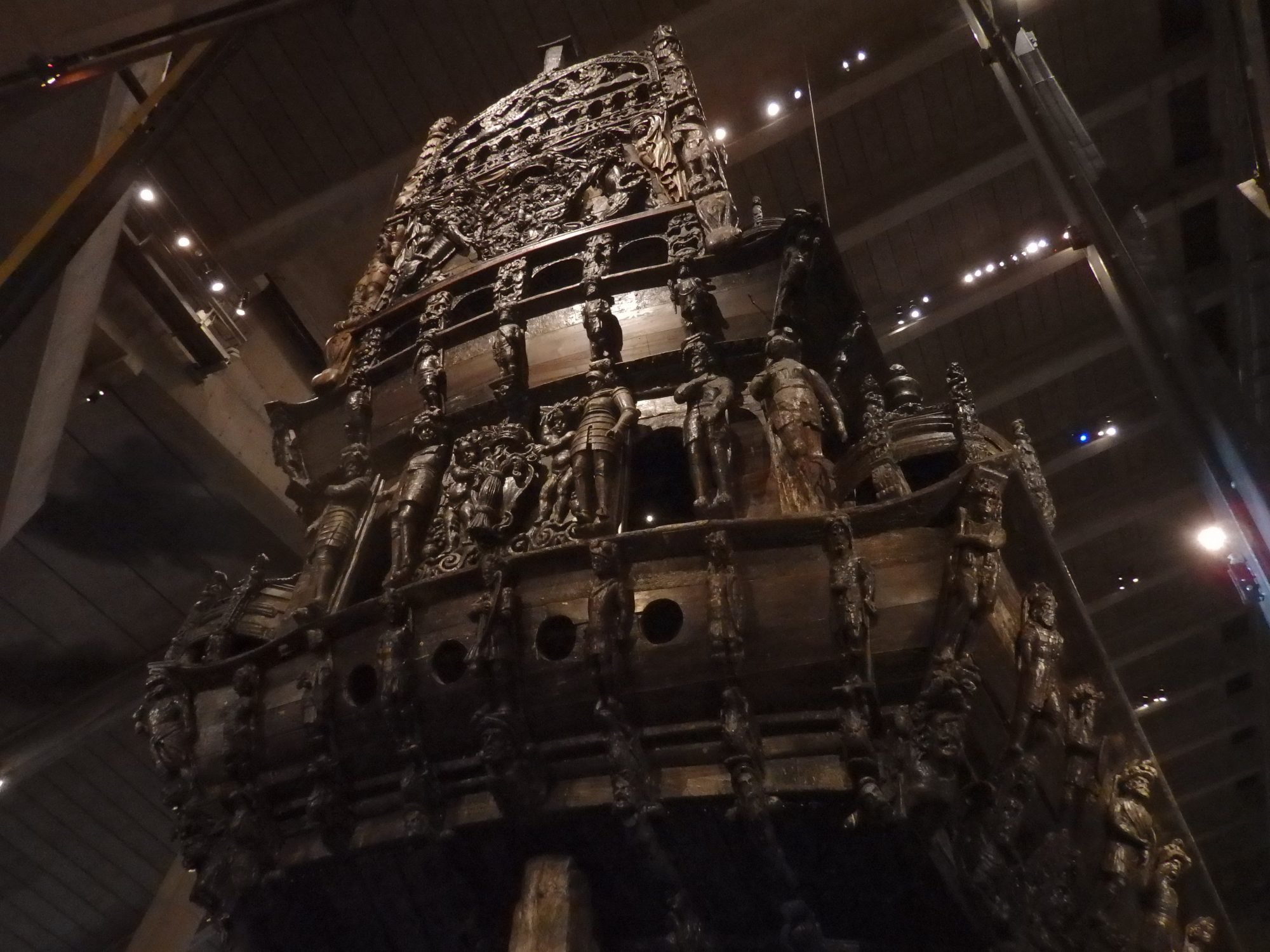 the entire stern of the Vasa: Stockholm, Sweden
