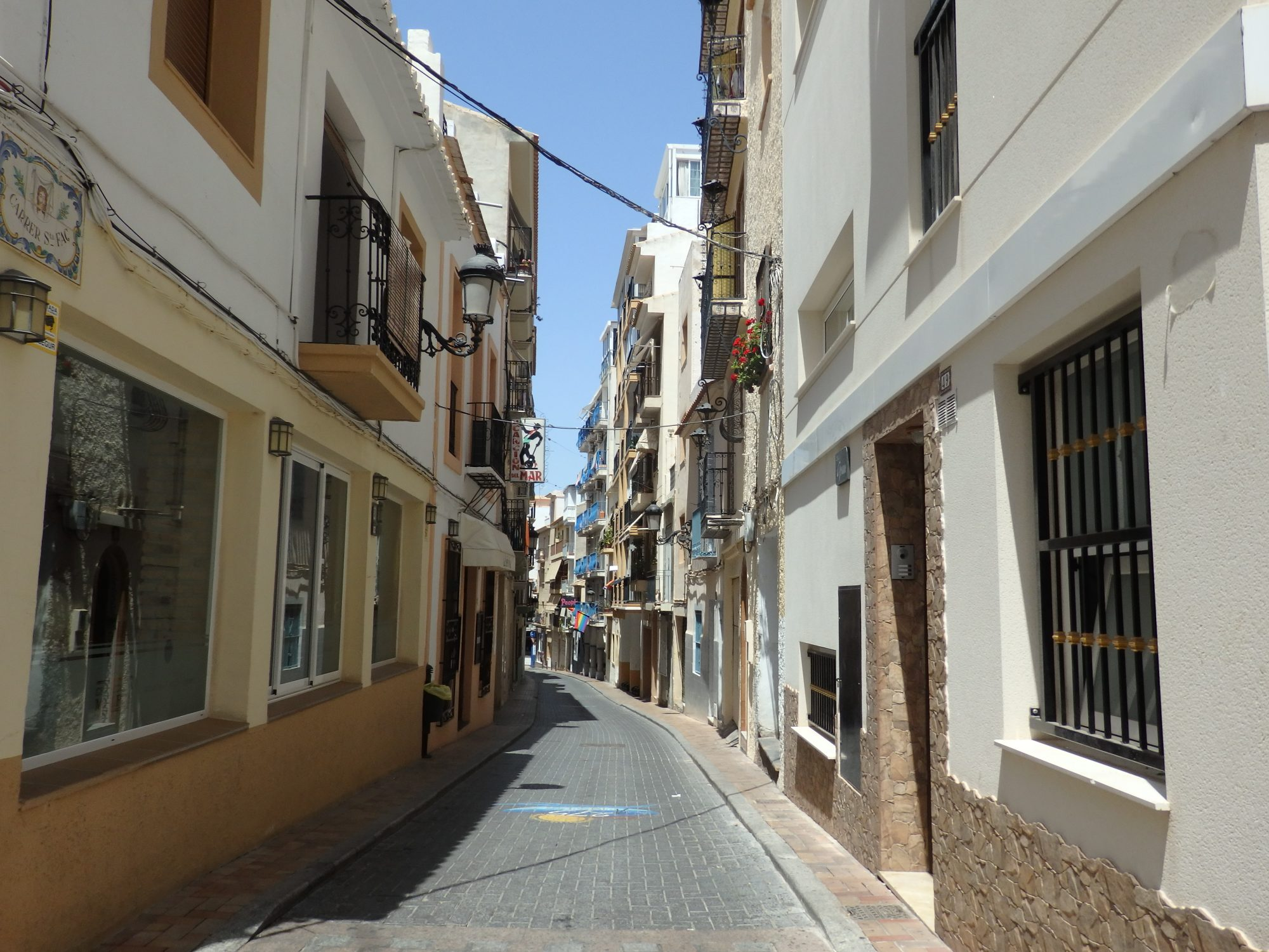 a street in the old section of Benidorm