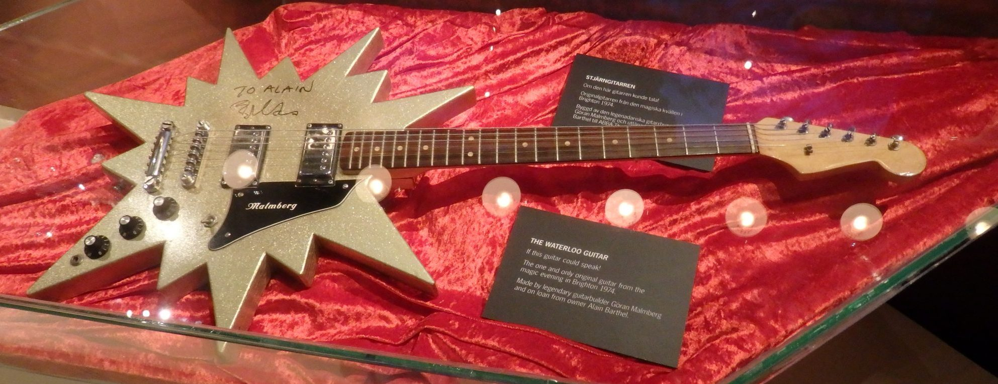 the guitar from the Eurovision performance