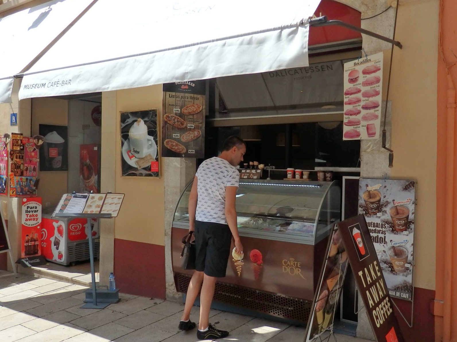 """our"" ice cream stand in Figueres, Spain"