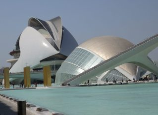 The City of Arts and Sciences in Valencia (with teenagers)