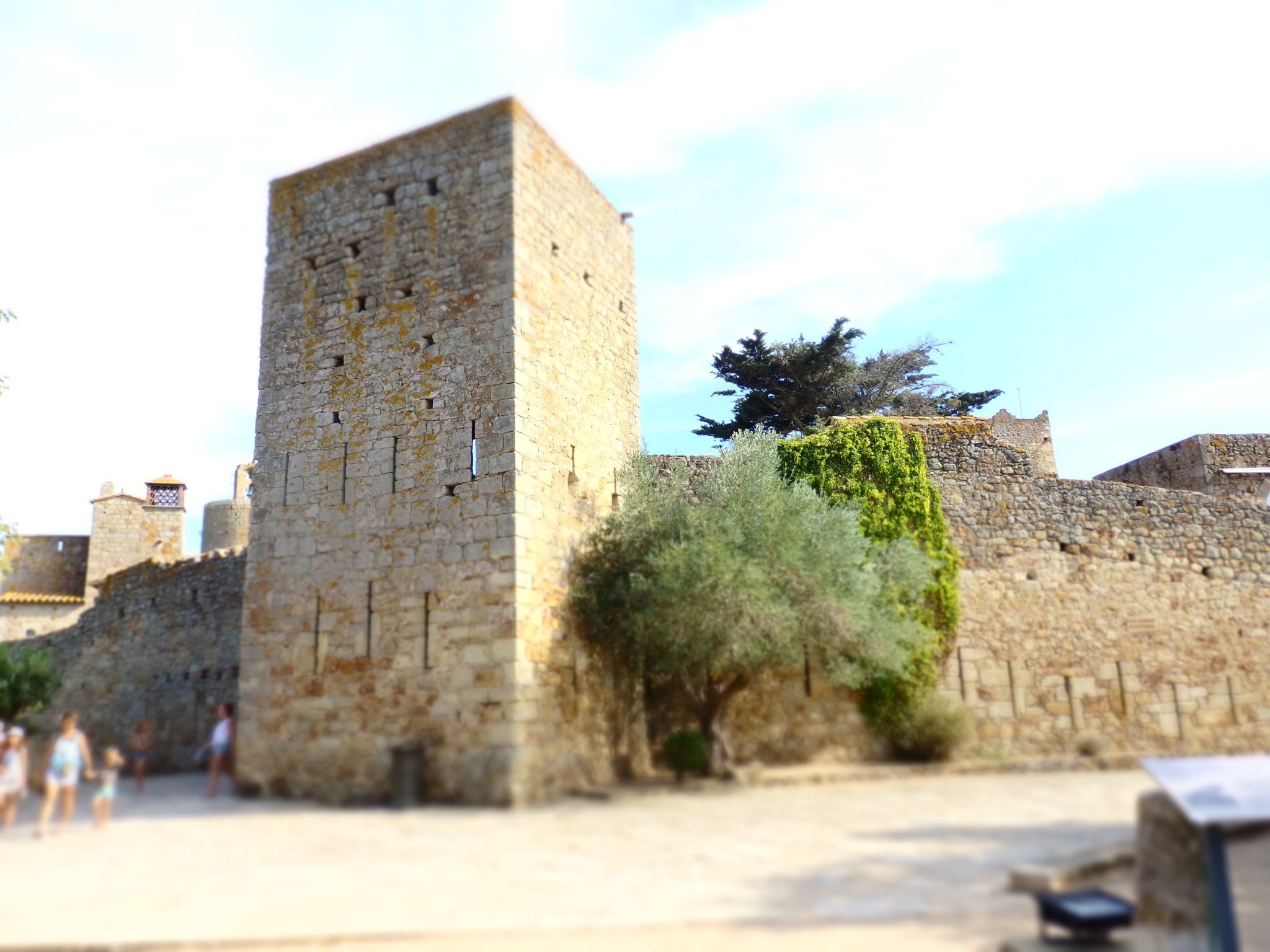remains of the old defensive structures of Pals, Baix Emporda, Spain