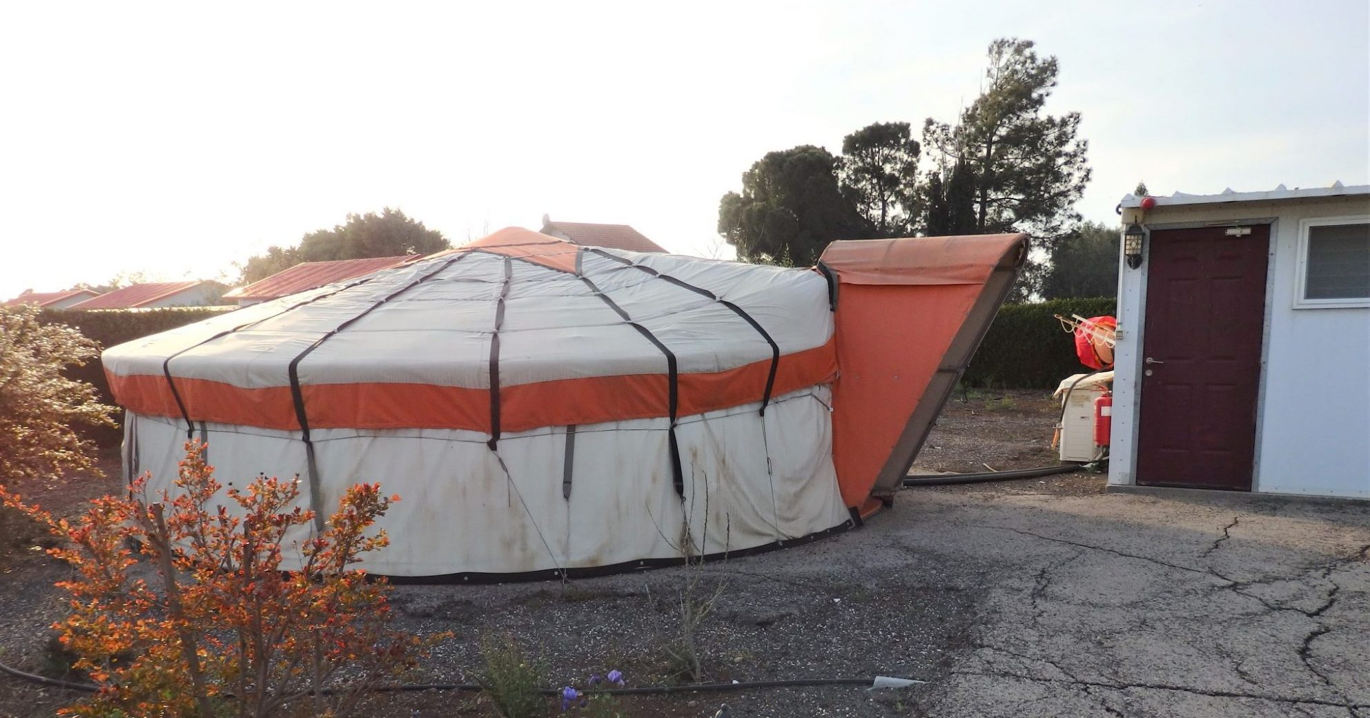 """""""My"""" yurt at Genghis Khan in the Golan, one of the ILH hostels in Israel."""