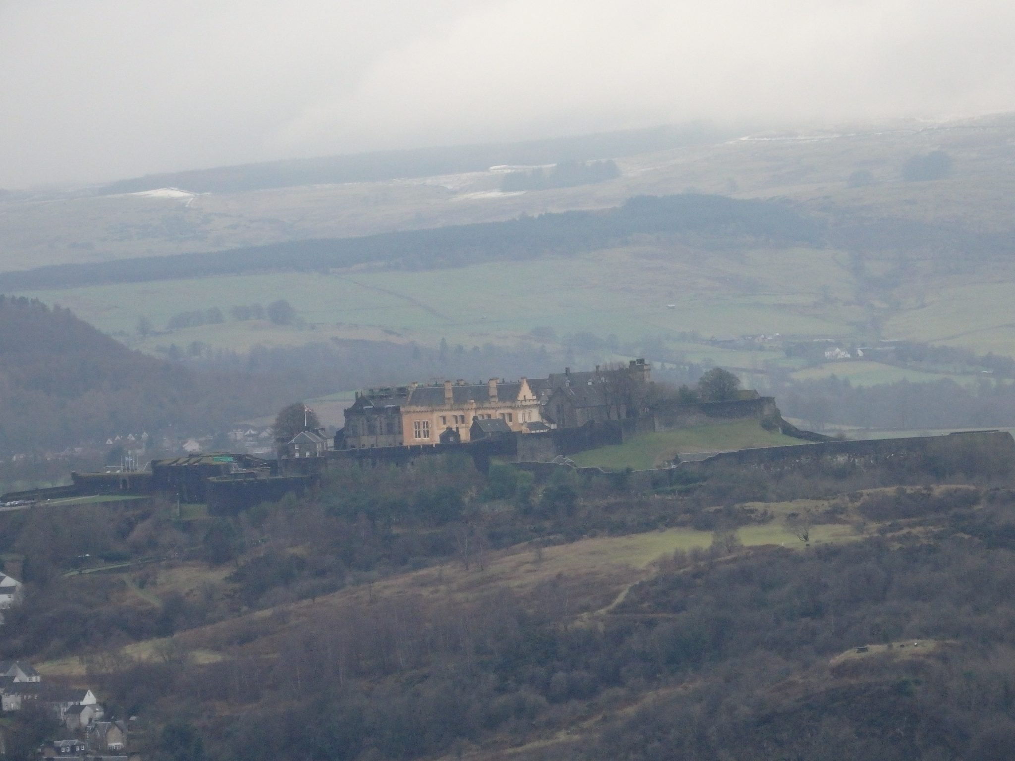 Stirling Castle, as seen by zooming my little compact camera as far as it would go.