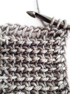Tunisian reverse stitch