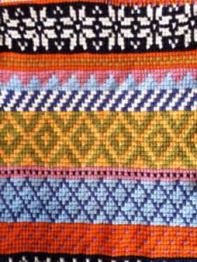 Tunisian Fair Isle scarf partie 2