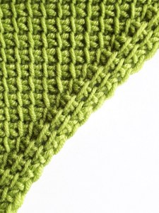 Increase with reverse and simple stitches