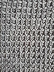Twisted down Tunisian simple stitch