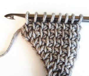 Augmentations et diminutions au crochet tunisien