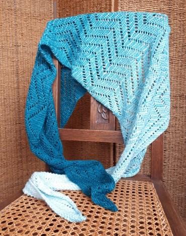 Road less traveled (la route la moins fréquentée), design au crochet tunisien par Aklori
