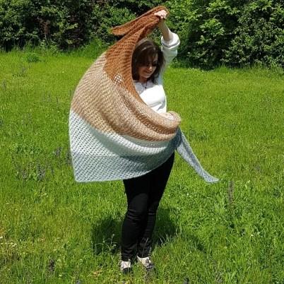 Châle au mohair, design par Silke Reibeling