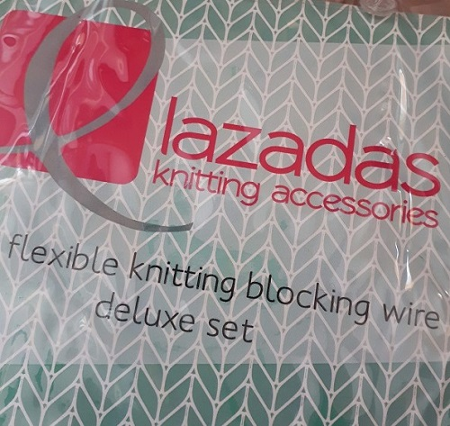 Knitting wires and pins from Lazadas