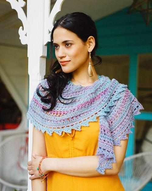 Filigree Lace Shawl (design Padma R), crédit photo Kirsten Mavric pour Inside Crochet