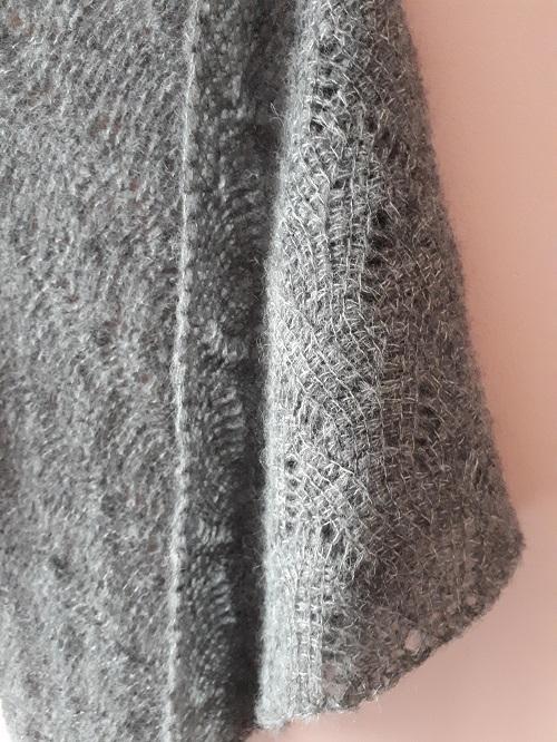 Vent du nord (Northern wind), Tunisian crochet shawl, design Rachel Henri