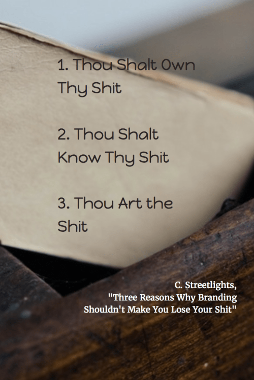 Three Reasons Why Branding Shouldn't Make You Lose Your Sh*t, Cee Streetlights, RachelintheOC, Rachel Thompson, Branding