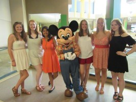 We had breakfast with Mickey, Pluto, Chip and Dale on the morning of our graduation at the Garden Grill in Epcot. It was possibly my favourite character dining experience!