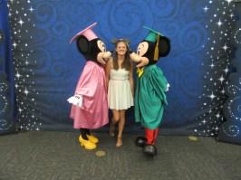 I finally got my photo with Mickey and Minnie at graduation!