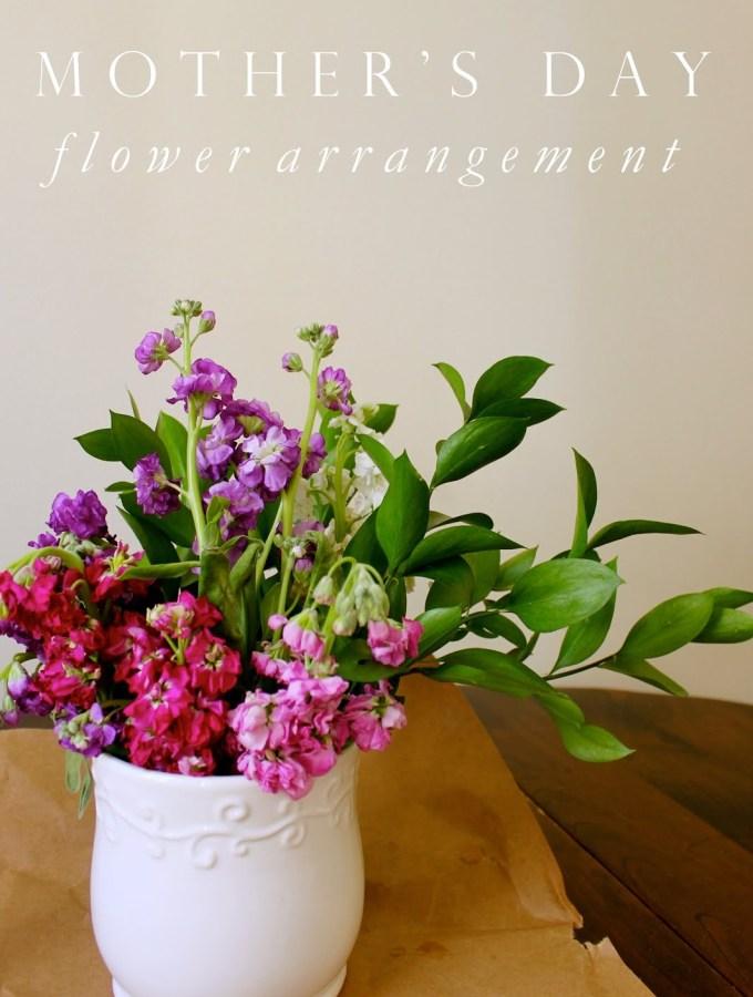 Spring Flower Arrangement How-to