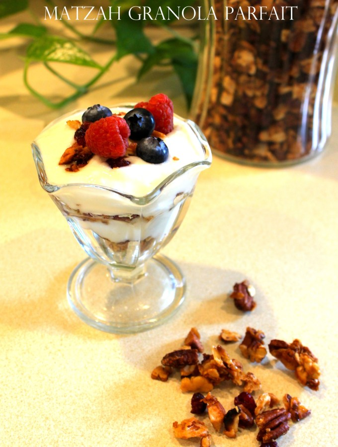 Easy Passover Granola Yogurt Parfait