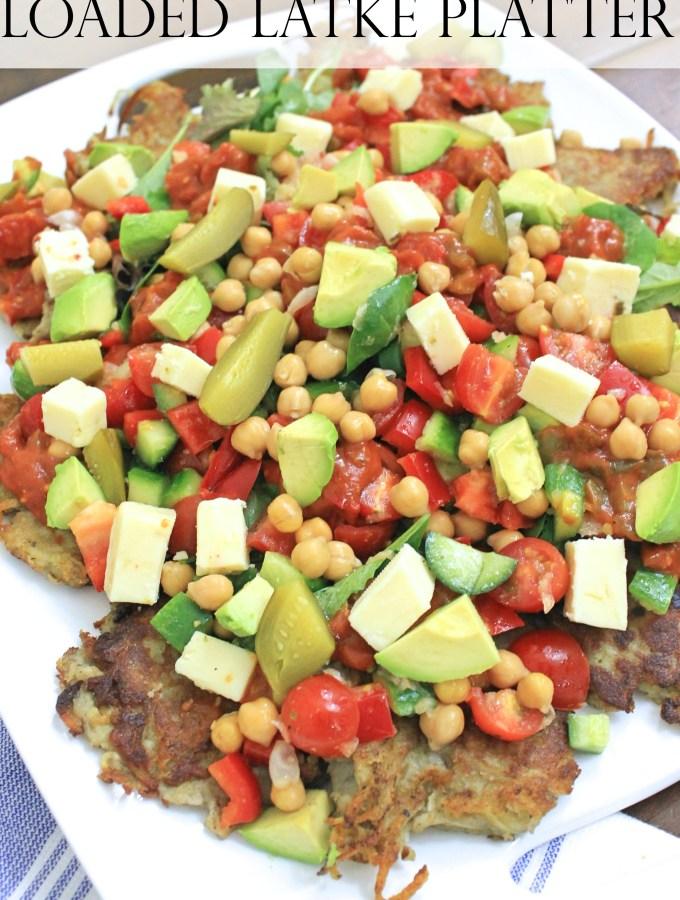 Israeli Loaded Latke Platter