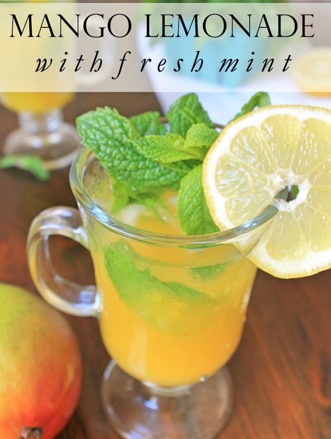 Mango Lemonade with Mint