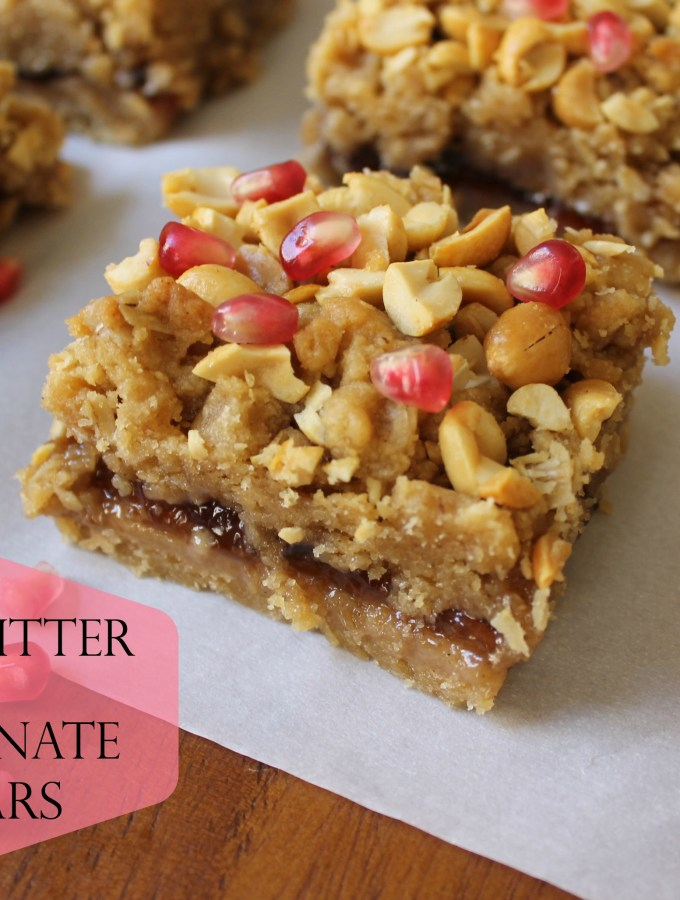 Peanut Butter and Pomegranate Jelly Bars