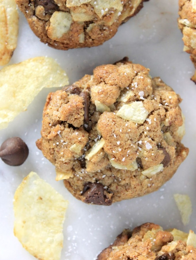 Almond Butter Chocolate Chip Cookies with Chips