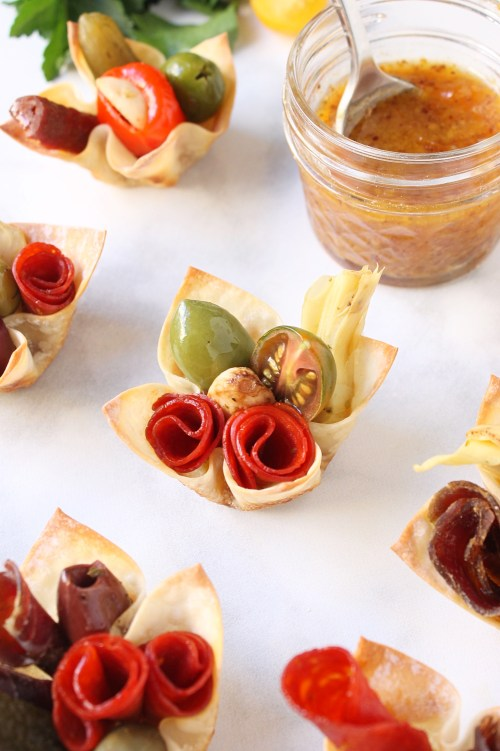 Charcuterie Cups with Apricot Mustard Sauce