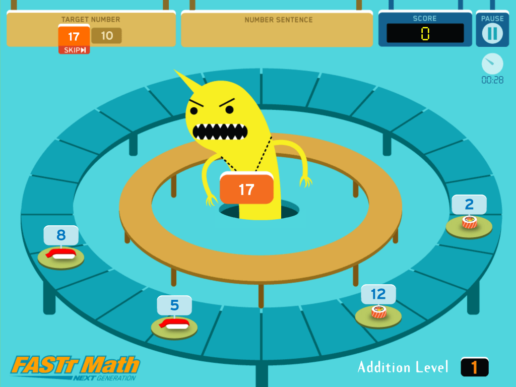 Sushi Monster - Free Math App