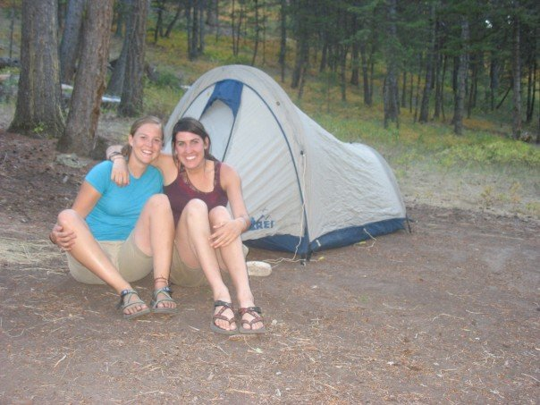 Diana and myself camping in Curtis Canyon.