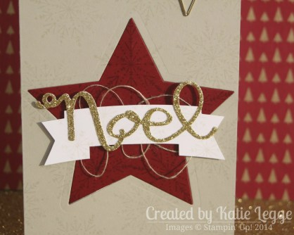 Katie Legge Stampin Up Many Merry Stars Ornament in a Card 3