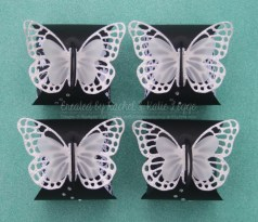 Stampin' Up! Butterfly Thinlits Curvy Keepsake Box with Back to Black DSP | South Pacific Gold Coast Convention 2015 Swaps | Created by Rachel and Katie Legge rachelleggestampinup.wordpress