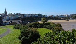 A view of Tenby from its coastal headland