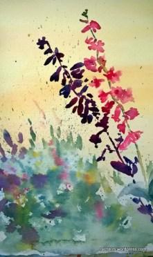 Garden Wall Shadow Rachel Murphree watercolor (1)