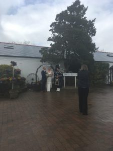 A couple getting married in Gretna Green
