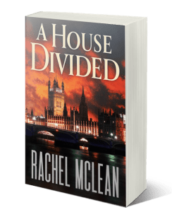 A House Divided by Rachel McLean - political thriller about terrorism, Islamophobia and divided loyalties