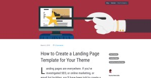 How to Add a Landing Page to Your WordPress Theme
