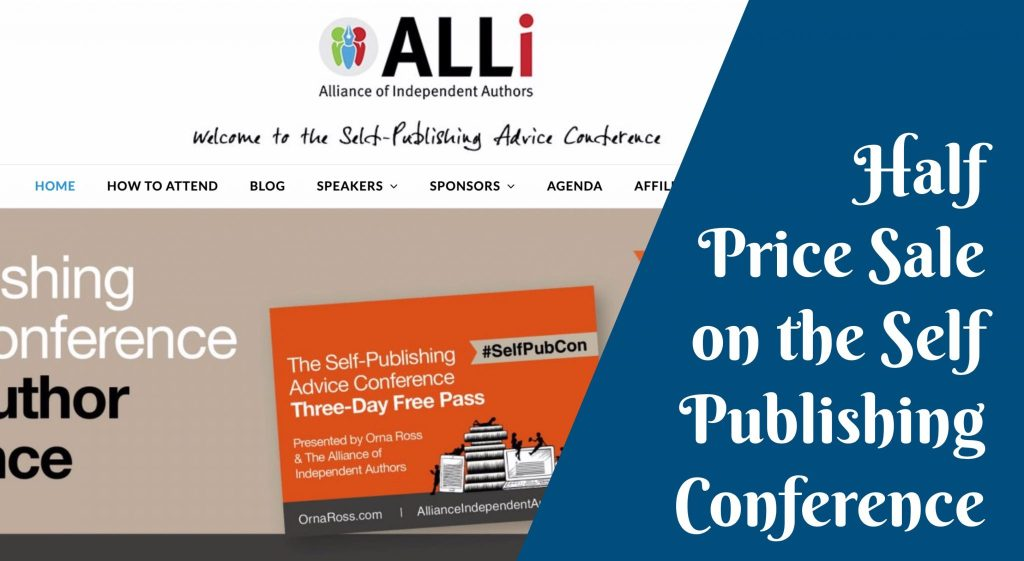 Half Price Sale on the Self Publishing Conference