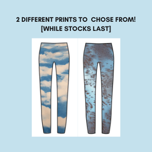text above an image showing leggings in two different fabrics