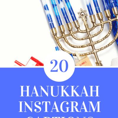 20 Hannukah Insta Captions!