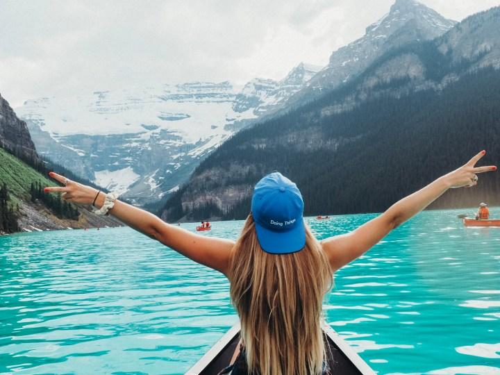 Lake louise banff austin travel blogger