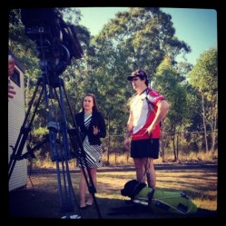 Interviewing wounded soldier Liam Haven for Soldier On