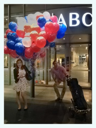 My haul of balloons left over from an ALP debate