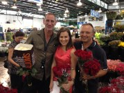 Reporting from Sydney's flower markets for Valentines Day