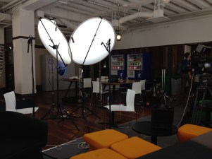 The set up for an in depth interview for One Plus One