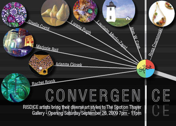 CONVERGEN|CE Art Opening at The Spot on Thayer on Sept 26, 7-11pm