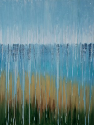 "[SOLD] ©Rachel Brask, Rainy Moment 07 (Beach Dreams). Oil on canvas, 40""x30"""