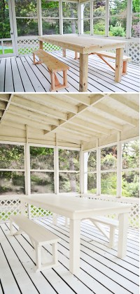 Rachel Schultz: HOW TO BUILD A $75 OUTDOOR DINING TABLE